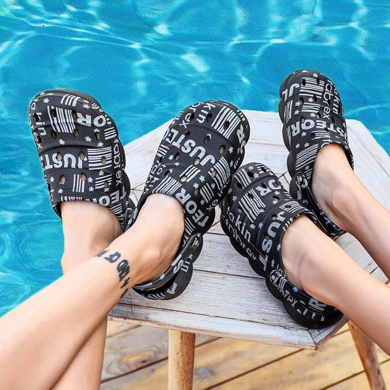 CERYTHRINA Mens Womens Garden Clogs Summer Sandals Lightweight Non Slip Walking Sport Shoes Unisex Adults Clog for Pool Beach Yard Kitchen Shower