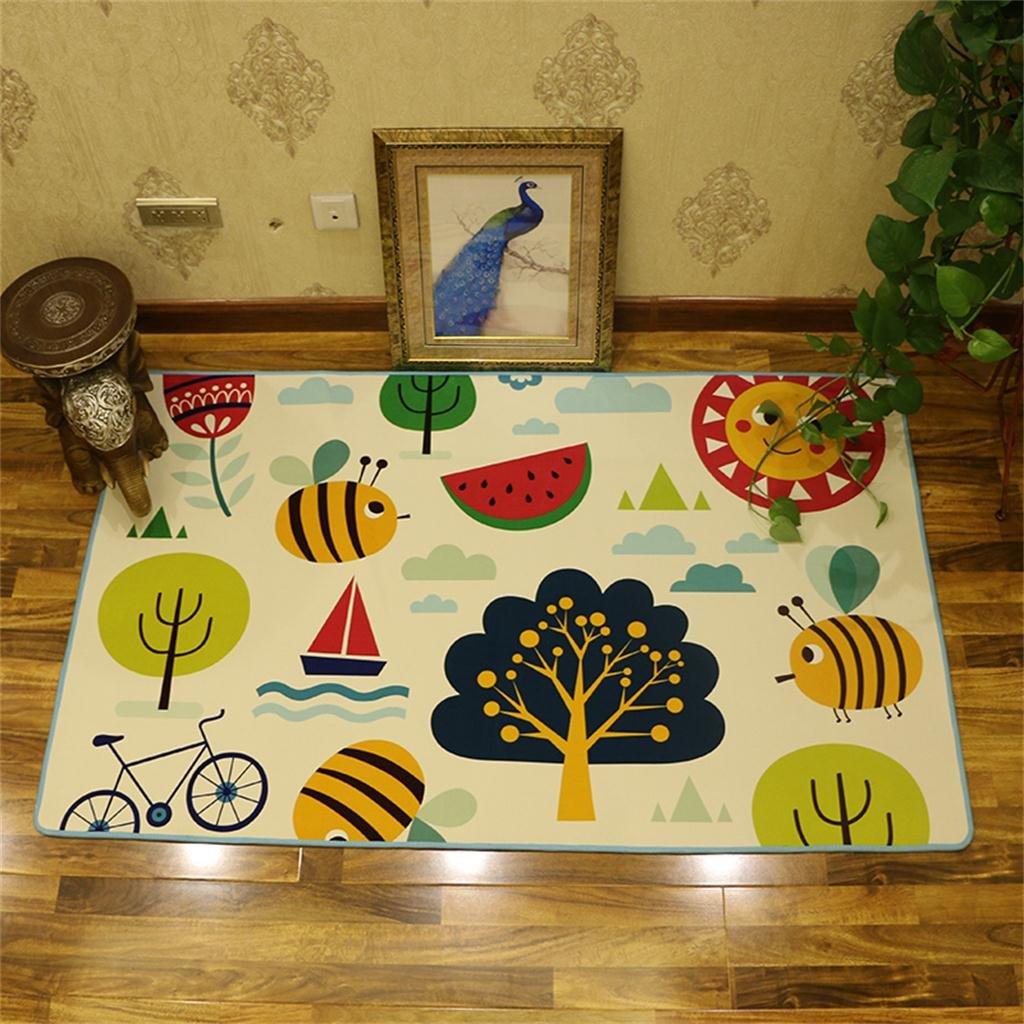 CARPET TRRE Modelo Lindo de la Historieta Rectangular Children's, Sala de Estar Dormitorio Niños gateando Pad/Game Pad (Color : Pattern 3, Tamaño : 160X230CM)