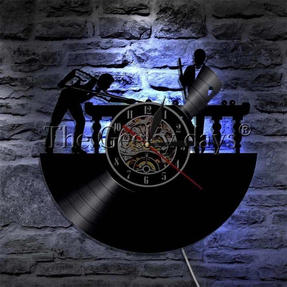 ZhaoCJB Billar Reloj de Pared con Registro de Vinilo 3D Mesa de ...