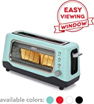 Dash Clear View Toaster: Extra Wide Slot Toaster with Stainless Steel Accents + See Through Window - Defrost, Reheat + Auto