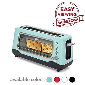 DASH DVTS501AQ Toaster 2 Slice Aqua