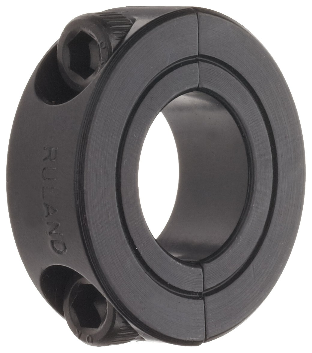 Black Oxide Steel Ruland SP-20-F Two-Piece Clamping Shaft Collar Pack of 2 2 1//16 OD 1//2 Width 1.250 Bore