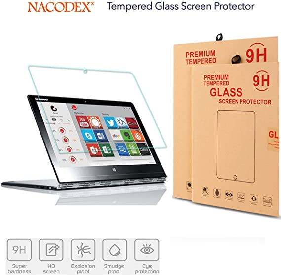 Lenovo Yoga 3 Pro 13.3-inch Tempered Glass Screen Protector - Nacodex 0.26mm HD [Round Angle, 9H Glass Screen Cover for Lenovo Yoga 3 pro-1370