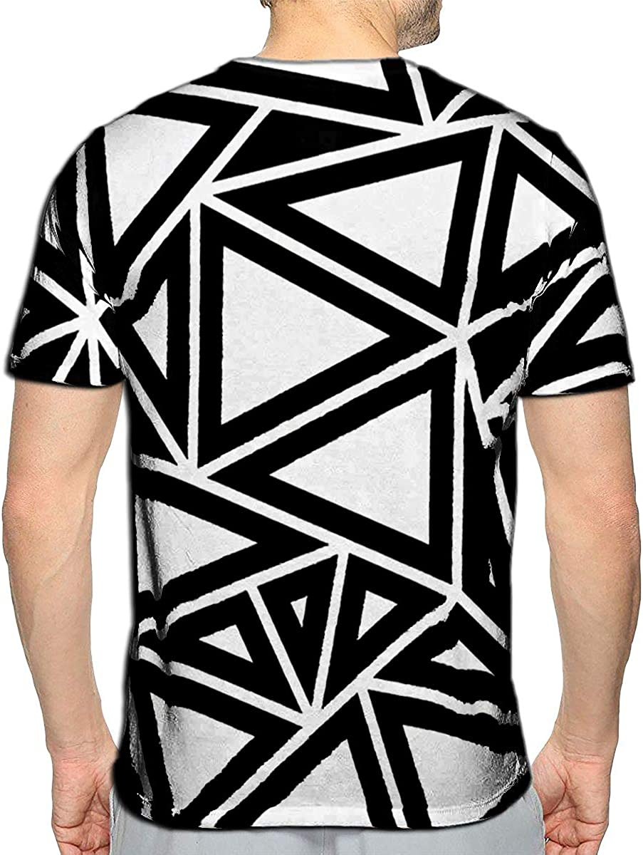 YILINGER T-Shirt 3D Printed Skull with Crossed Axes Casual Tees