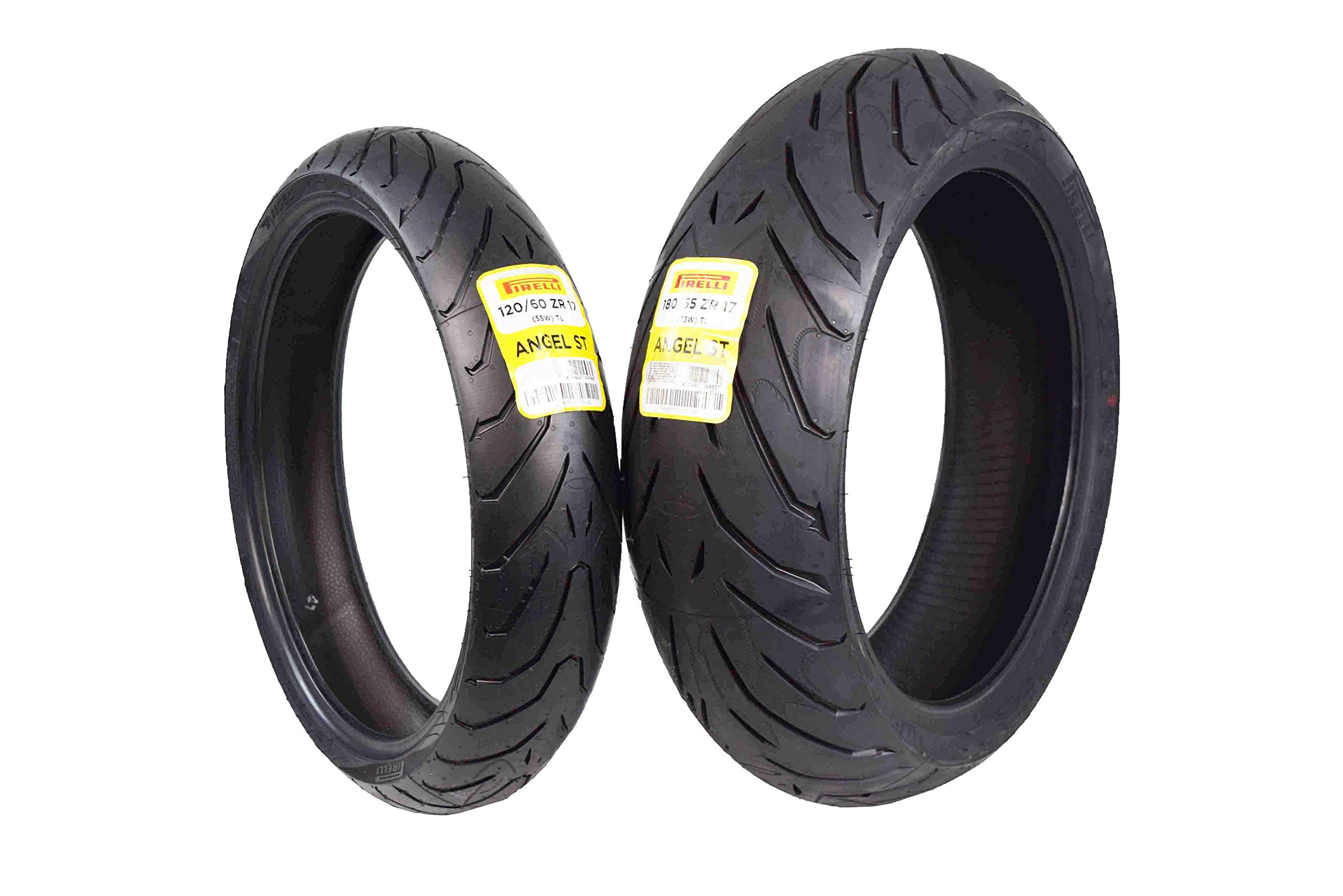 Pirelli Angel ST Front & Rear Street Sport Touring Motorcycle Tires (1x Front 120/60ZR17 1x Rear 180/55ZR17)