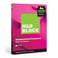 H&R Block Tax Software Deluxe 2019 PC/Mac w/4% Bonus Deals