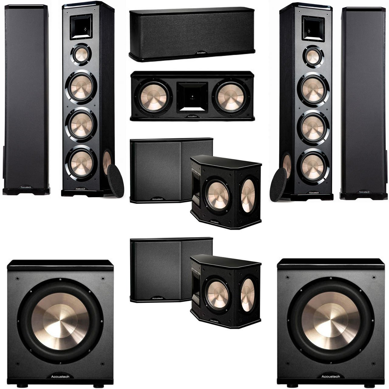 BIC Acoustech PL-980 7.2 Home Theater System-NEW!! PL-200II Sub by BIC