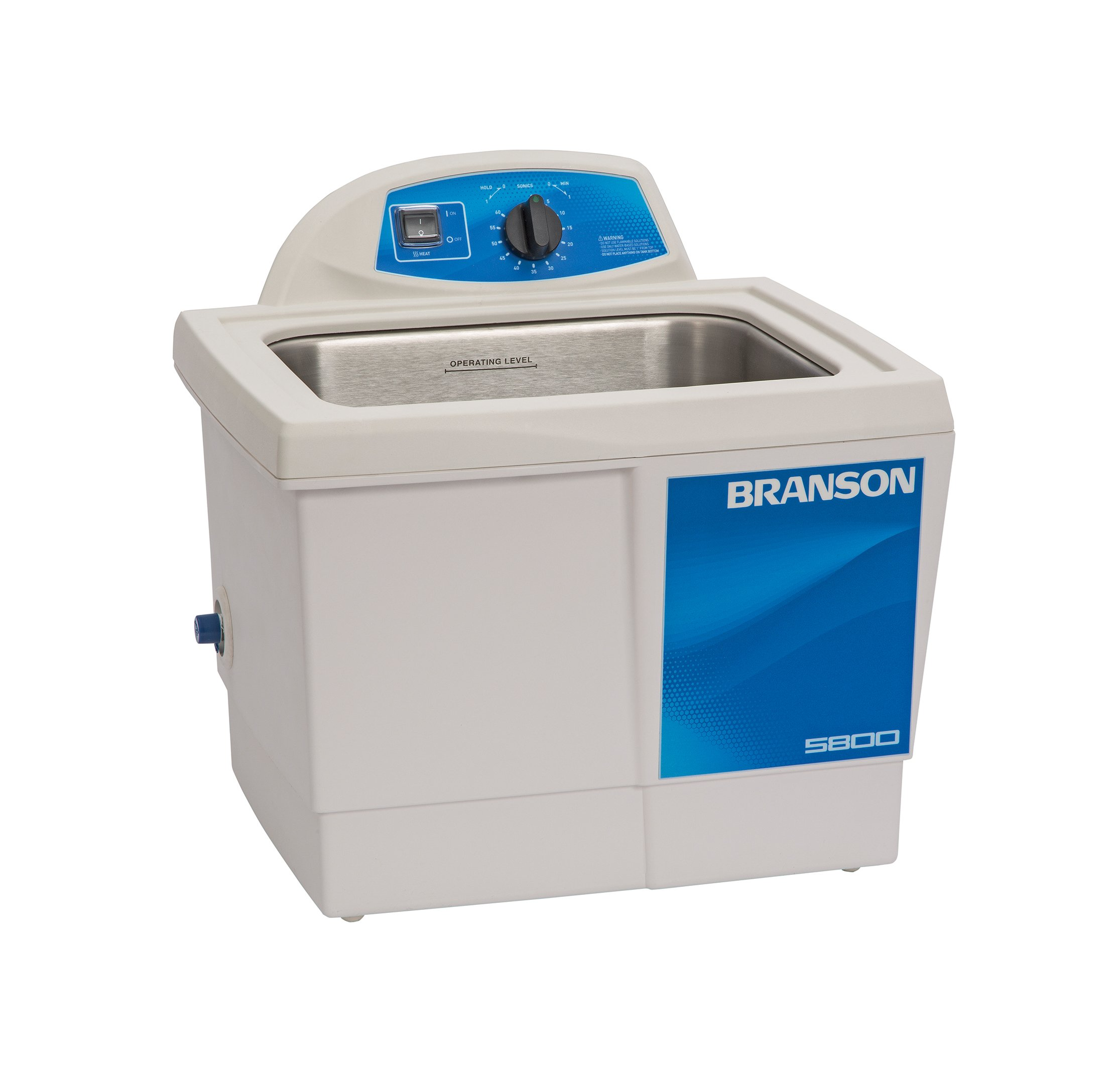 Branson CPX-952-517R Series MH Mechanical Cleaning Bath with Mechanical Timer and Heater, 2.5 Gallons Capacity, 120V