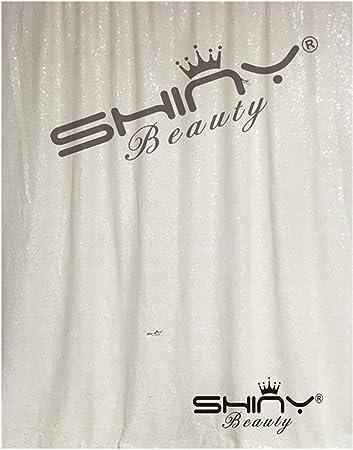 Weiße Paillettenvorhänge 2 Paneele 60 X 200 Cm Für Babyparty Hintergrund Mit Pailletten Hintergrund Für Hochzeit Küche Haushalt