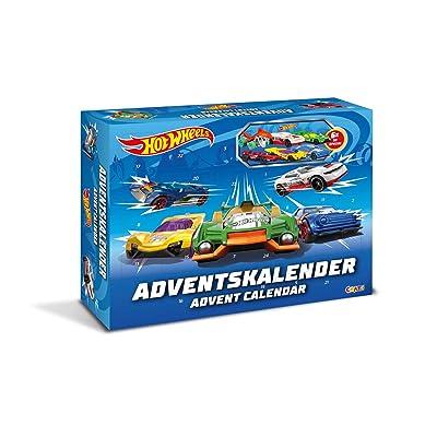 CRAZE 13908 Hot Wheels - Calendario de Adviento, con Juguete, Coches, Pegatinas: Juguetes y juegos