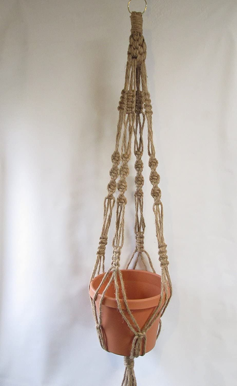 Macrame Plant Hanger 40 Vintage Style All Natural Jute