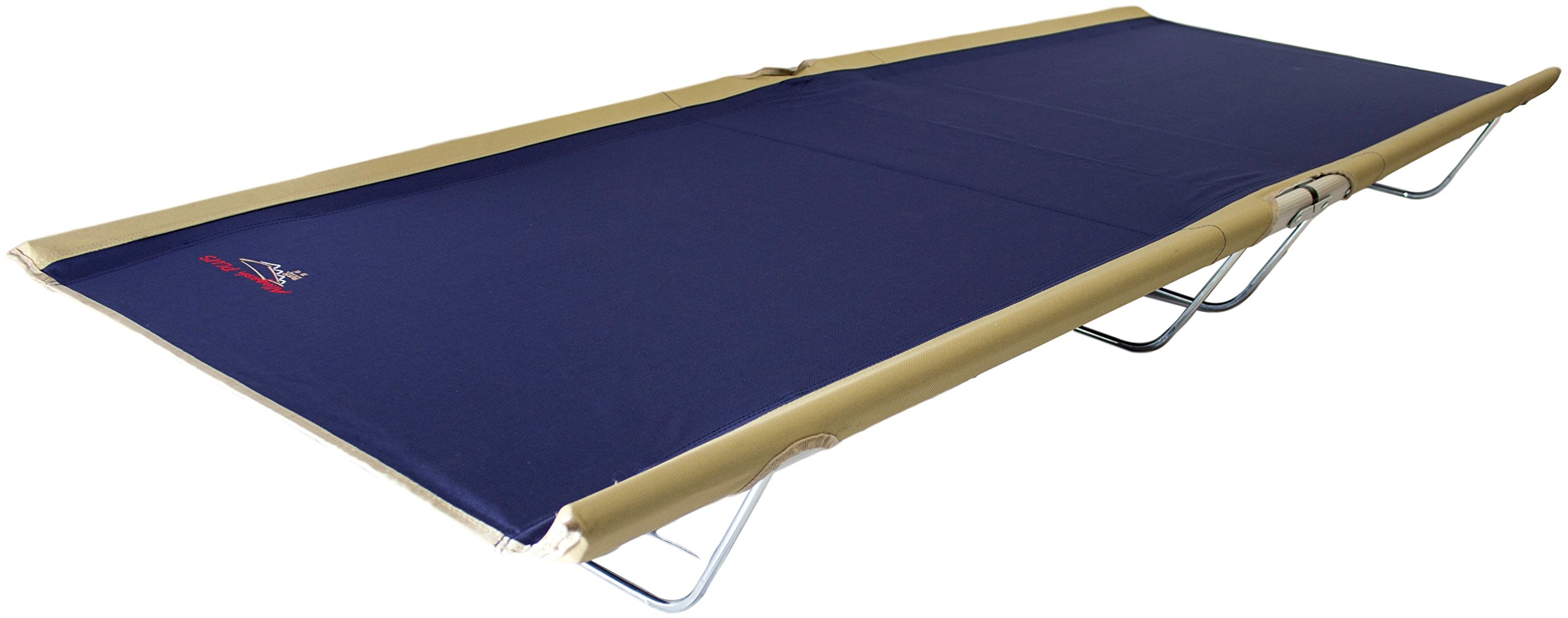 BYER OF MAINE, Allagash Plus, Cot, 76''L X 30''W X 8''H, Lightweight Cot, Extra Wide, Camping Cots Adult, Holds up to 250lbs, Single, Portable Camping Cot by BYER OF MAINE