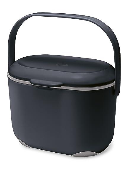 Addis Komposteimer für die Küche, 2,5 l, schwarz / grau ...