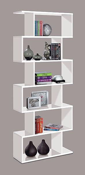 Ziggy White Gloss Bookcase Room Divider