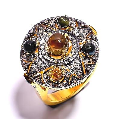 Buy Divya Gin Jewellers Diamond Blue Sapphire Emerald