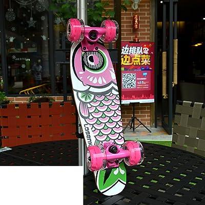 Skate/Poissons/Adulte brossé Conseil gros poissons rue Maple/Quatre roues skateboard/Banane/Etape skateboard/Fille