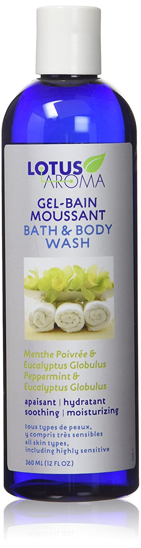 Lotus Aroma Peppermint and Eucalyptus Globulus Bath and Body Wash, 12 fl. oz. Laboratoires Natrum Inc