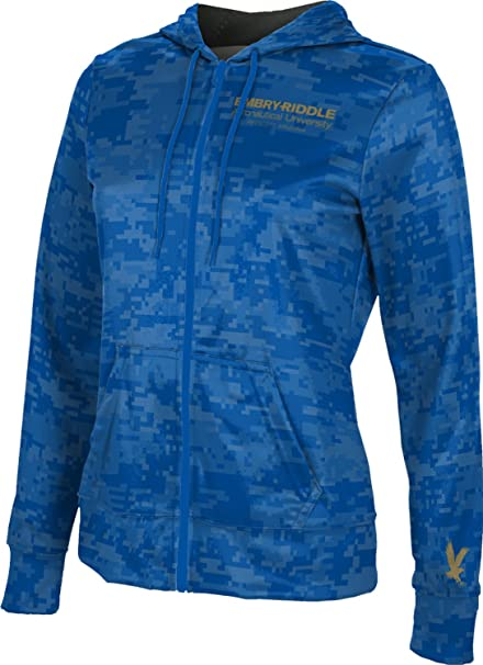 Embry-Riddle Aeronautical University Prescott Womens Pullover Hoodie Digi Camo School Spirit Sweatshirt