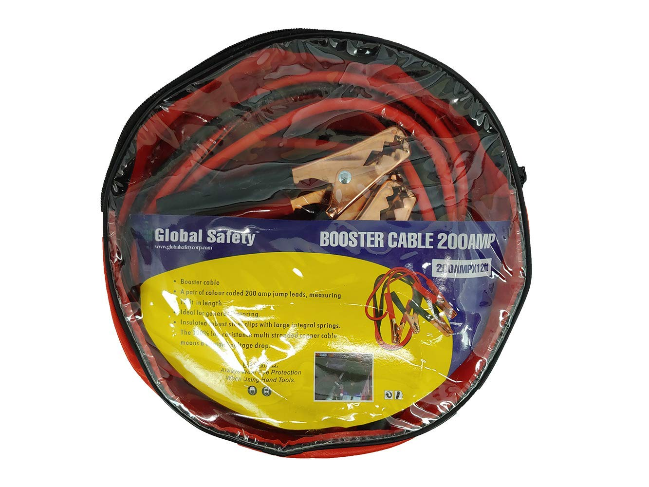 CPR Savers 200 AMP Color Coded 12 ft Car Jumper Cables for Small to Mid Sized Vehicles