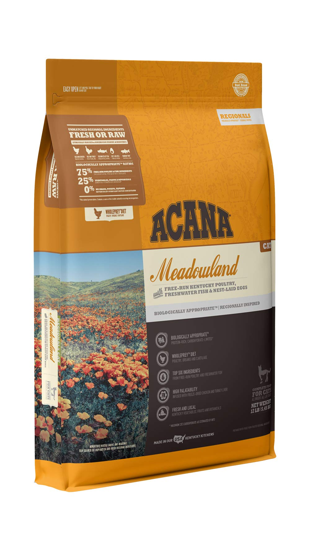 ACANA Regionals Dry Cat Food, Meadowland, Biologically Appropriate & Grain Free by ACANA