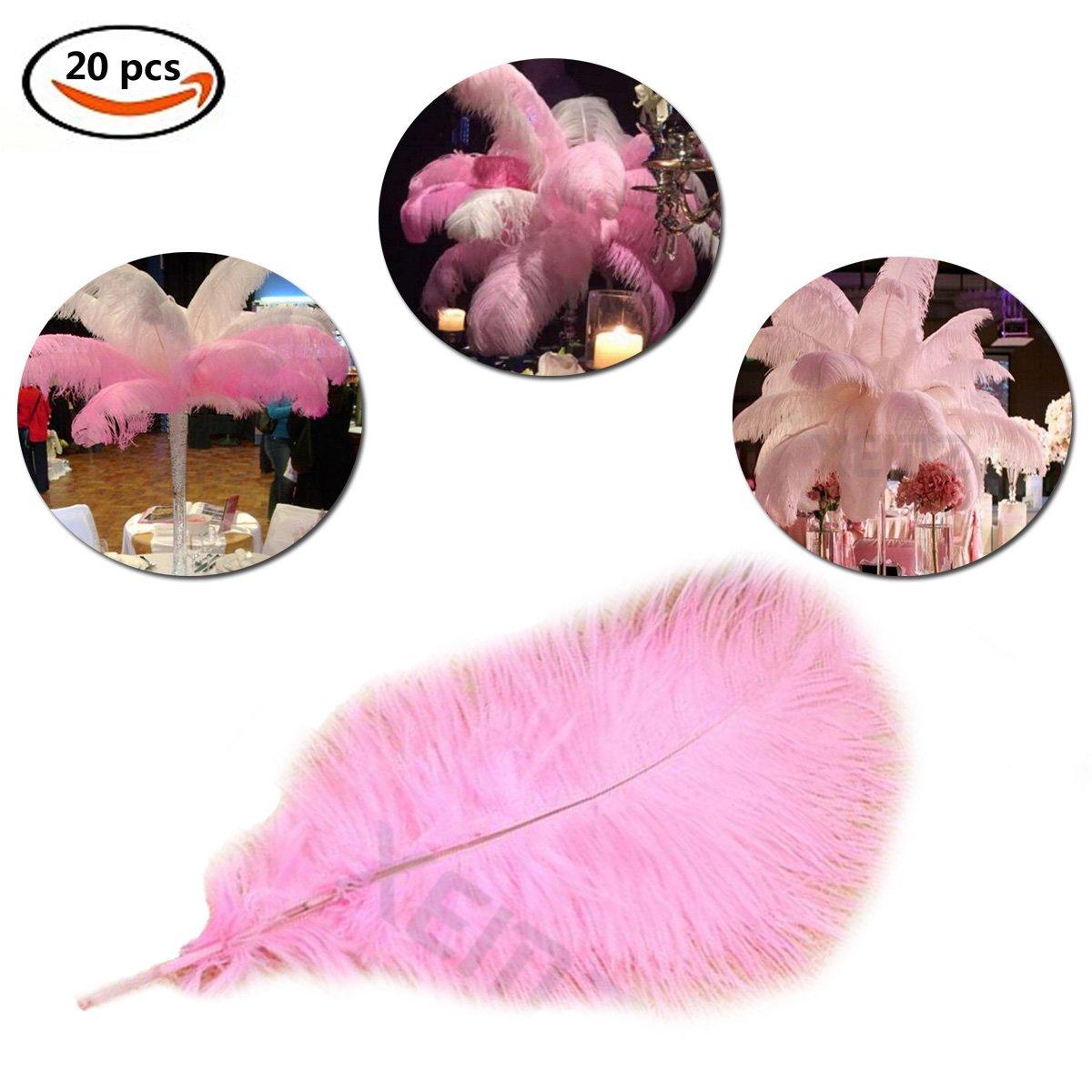 100% natural avestruz plumas para manualidades, 20 pcs ...