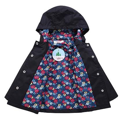 LZH Baby Girls Raincoat Suit Waterproof Hooded Coat Jacket & Trousers  Outwear