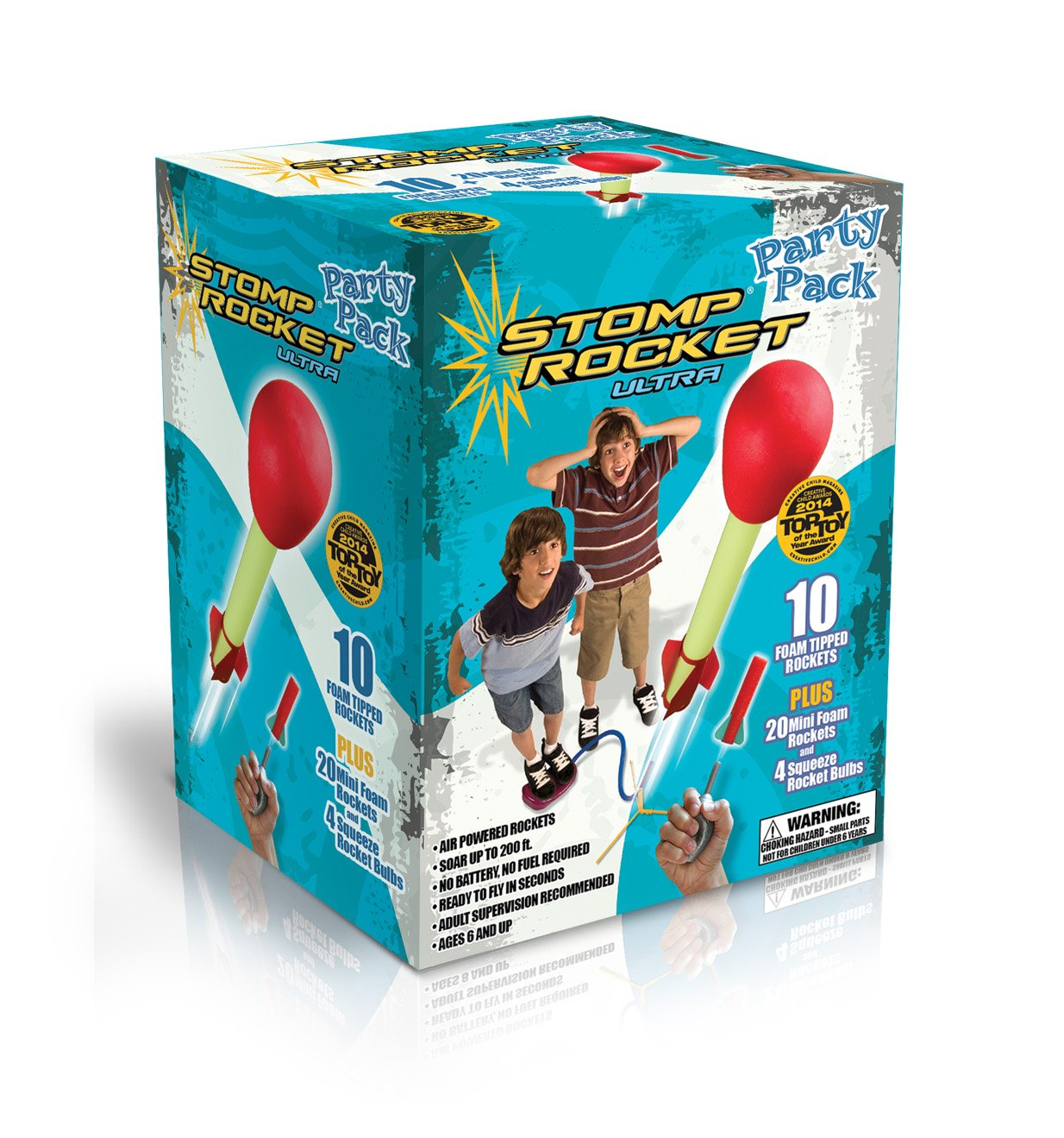 Stomp Rocket Ultra Rocket Party Pack, 30 Rocket Combo