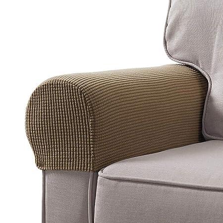 aitoco arm caps for armchairs sofa arm covers fleece stretchy rh amazon co uk sofa arm covers amazon sofa arm covers walmart