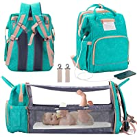 Deals on Manrany 3 in 1 Diaper Bag Backpack w/Changing Station