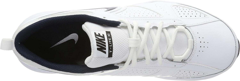 NIKE T-Lite XI, Cross Trainer Mens, Blanco (White/Obsidian/Black/Metallic Silver 101), 44 EU: Amazon.es: Zapatos y complementos