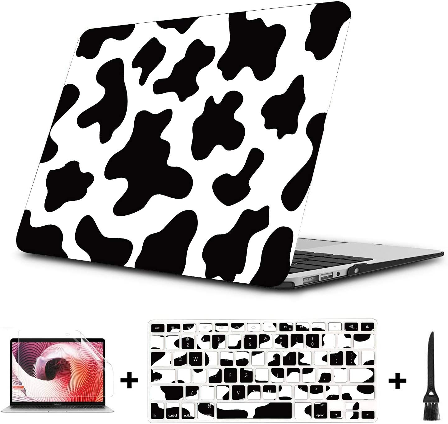 """MacBook 15 Cover Cow Texture Design Pattern Backdrop Plastic Hard Shell Compatible Mac Air 11"""" Pro 13"""" 15"""" MacBook Pro Case 15 Protection for MacBook 2016-2019 Version"""