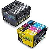 OfficeWorld Reemplazo para Epson T1291-T1294 (T1295) Cartuchos de tinta Compatible para Epson Stylus Office B42wd, BX306 FW+, BX320FW, BX525WD, BX535wd, BX625FWD, BX630fw, BX635FWD, BX925FWD, BX935fwd, Stylus SX235W, SX420W, SX425W, SX430W, SX435W, SX438W, SX440W, SX445W, SX445we, SX525WD, SX535WD, SX620FW, Workforce WF-3010DW, WF-3520DWF, WF-3530DTWF, WF-3540DTWF, WF-7015, WF-7515, WF-7525