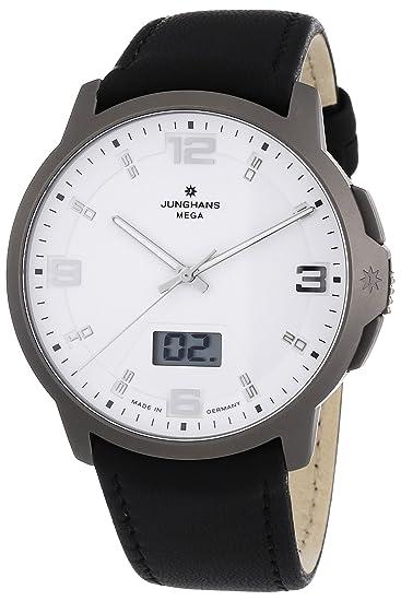 Junghans ANYTIME VOYAGER 030/2901.00 - Reloj de caballero, correa de piel color negro