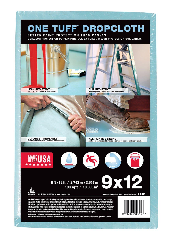 Trimaco One Tuff Professional Grade Dropcloth, 9-Feet by 12-Feet,  90019