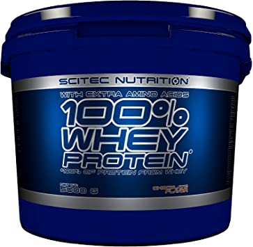 Scitec Nutrition 100% Whey Protein con aminoácidos adicionales, 5 kg, Chocolate