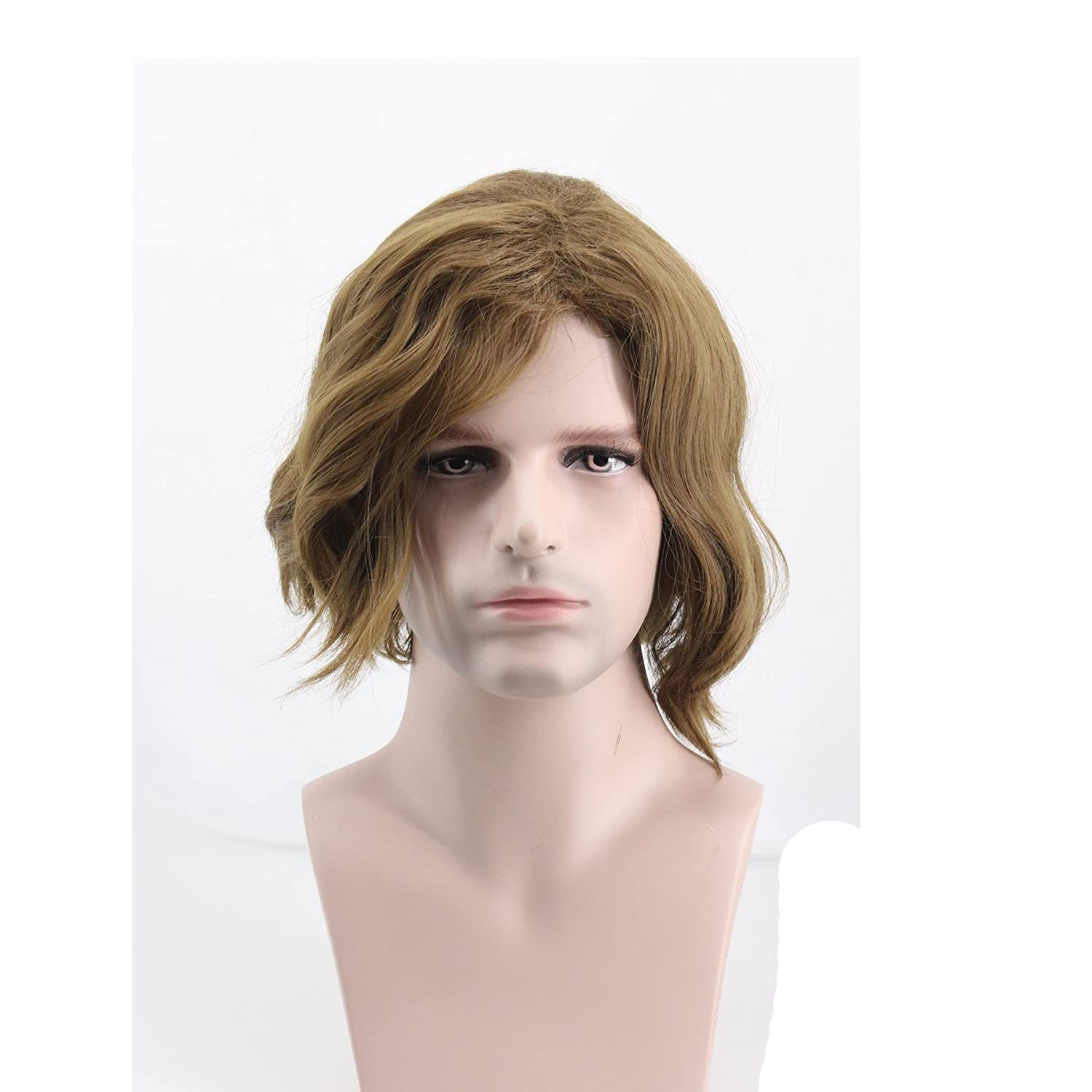 BoMing Man's Short Flax Cosplay Wig for Halloween Costume Wig