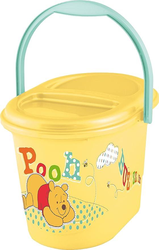 7 serie Z Kit Disney Winnie Pooh amarillo Bañera XXL 100 cm + Soporte de bañera + Pote + WC Ensayo + Taburete + Cubo de pañales + Paño: Amazon.es: Bebé