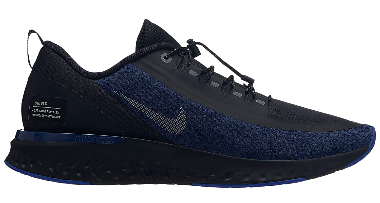 new style 0ac32 3104d Amazon.com   Nike Men s Odyssey React Shield Running Shoe Blue Void Reflect  Silver Black   Road Running