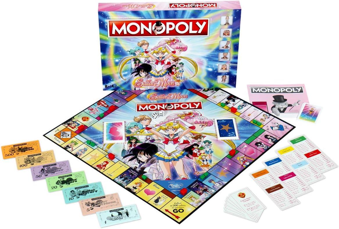 Winning Moves Sailor Moon Monopoly Juego de Mesa: Amazon.es: Juguetes y juegos