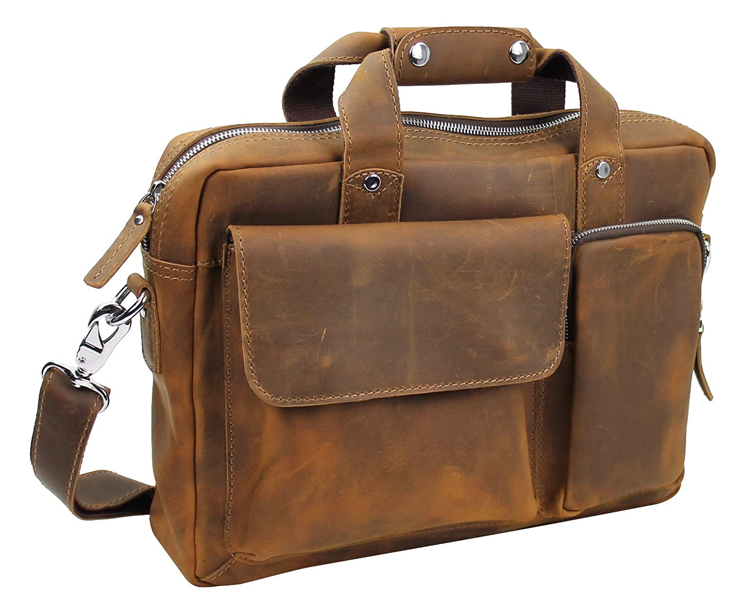 Vagabond Traveler Cowhide Leather Casual Messenger Bag L23 B073SB3SXD