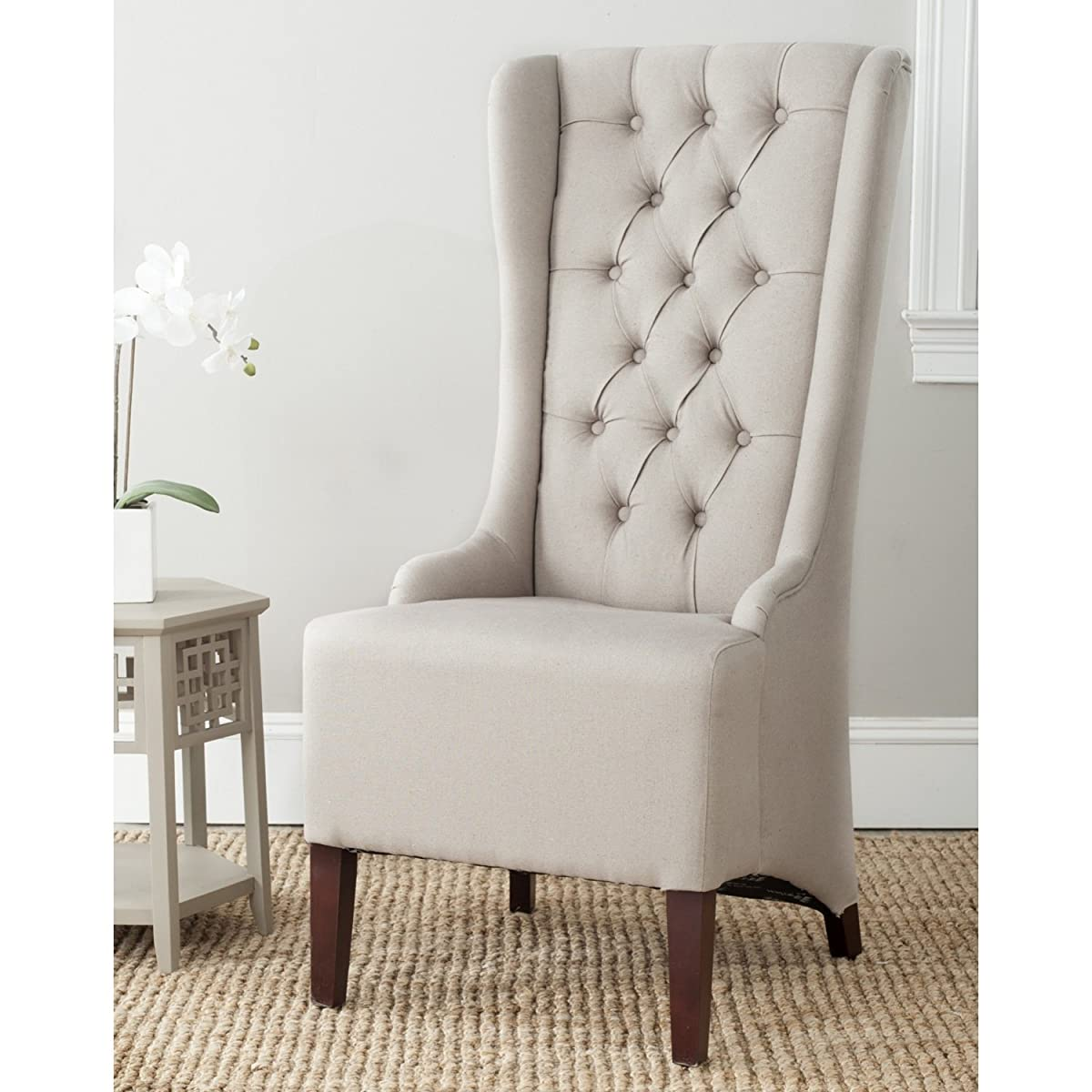 Safavieh Mercer Collection Becall Dining Chair, Taupe