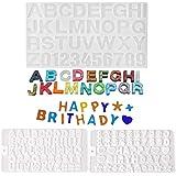 Molde de letras para chocolate, paquete de 3 moldes de silicona con números de resina, moldes de chocolate epoxi, letras alfa