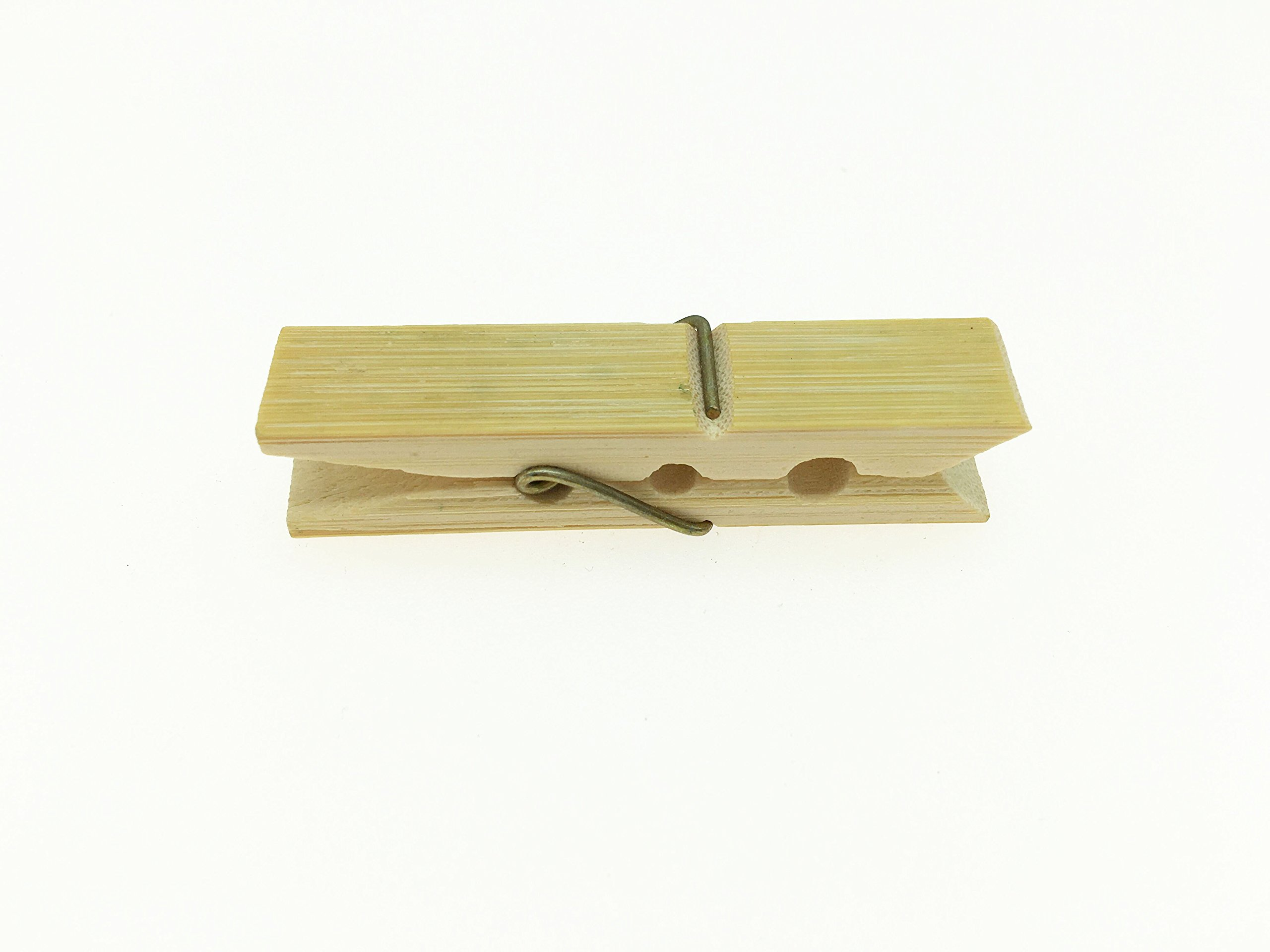 KKhouse 20 PCS Natural Bamboo Clothespins Mini Photo Paper Peg Pin Graft Clips 6CM Art Craft Photo Hanging Clips