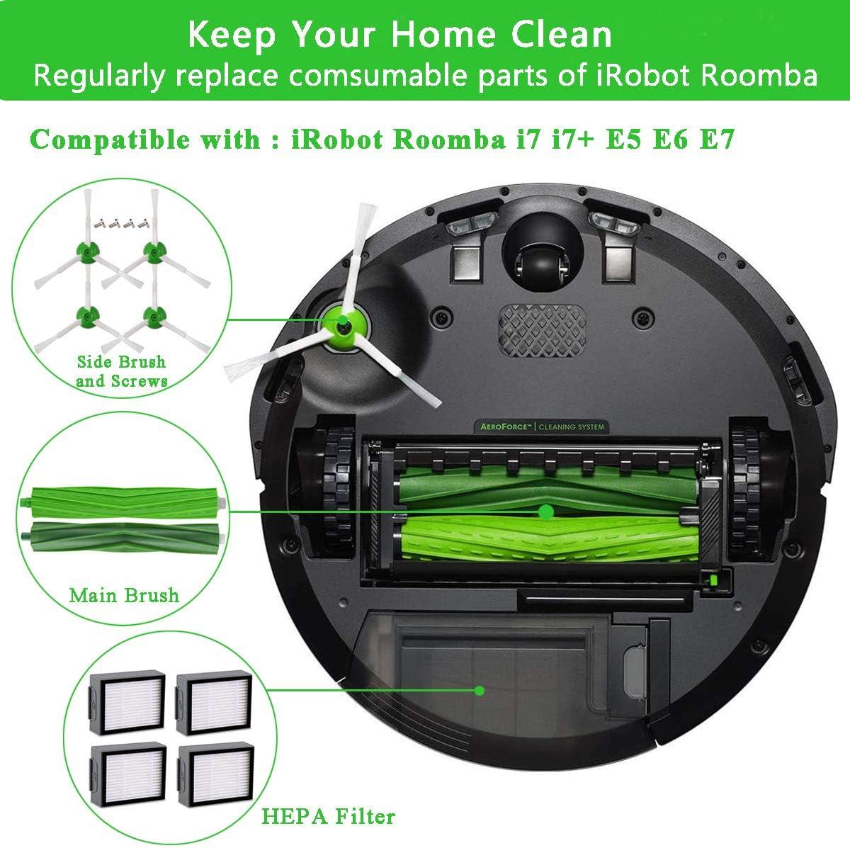 Kit di Ricambi Sostituzione per iRobot Roomba i7 Serie i7 i7 14 pezzi i7 plus e E5 E6 E7