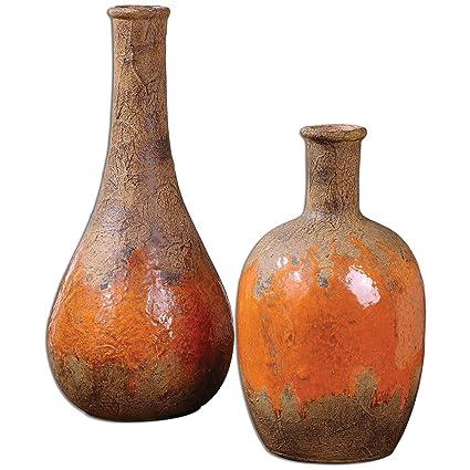 Amazon Uttermost 19825 Kadam Ceramic Vases Set Of 2 Home