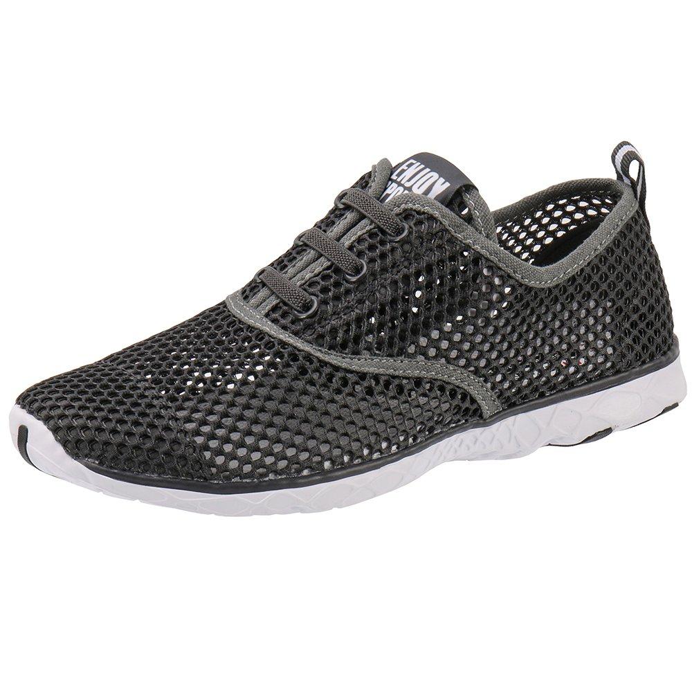 ALEADER Men's Quick Drying Aqua Water Shoes Darkgray 10.5 D(M) US