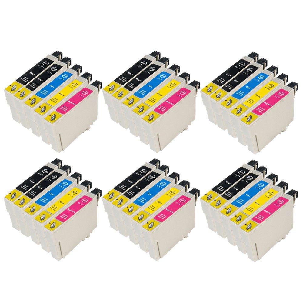 Tian - 30 cartuchos de tinta compatibles T0711 de T0714 como ...