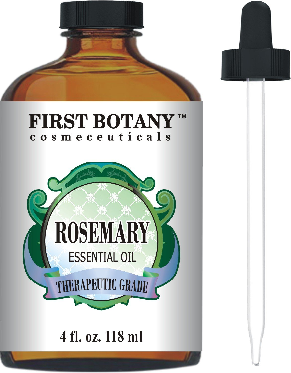 Rosemary Essential Oil Big 4 fl. oz. – Premium & Therapeutic Grade - Great for Hair Strengthening & Growth, Dandruff as well Pain Relief for Men and Women