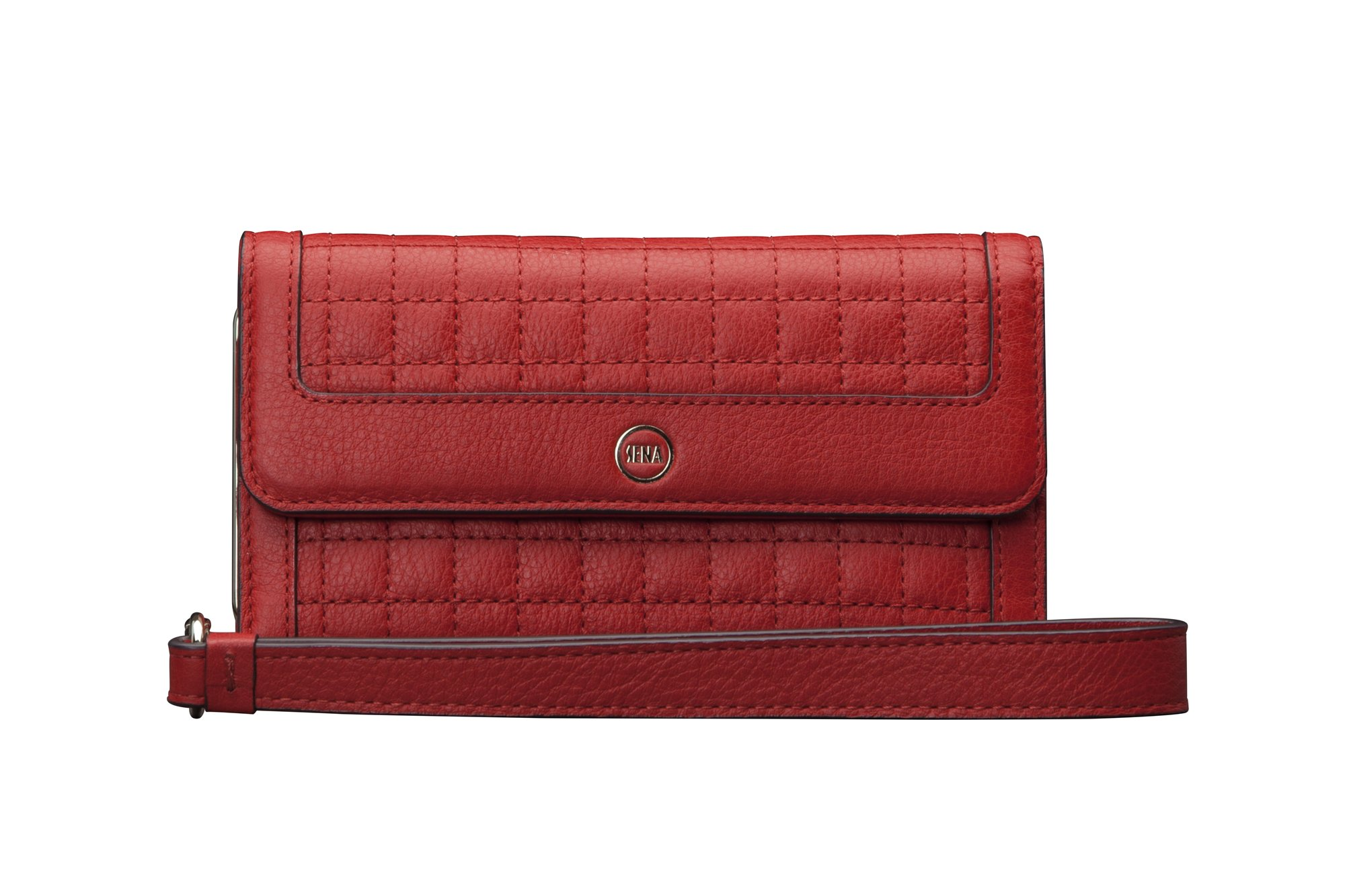 Sena Cases Genuine Leather Isa Wallet Clutch for Iphone 7, Iphone 6/6S (Red)
