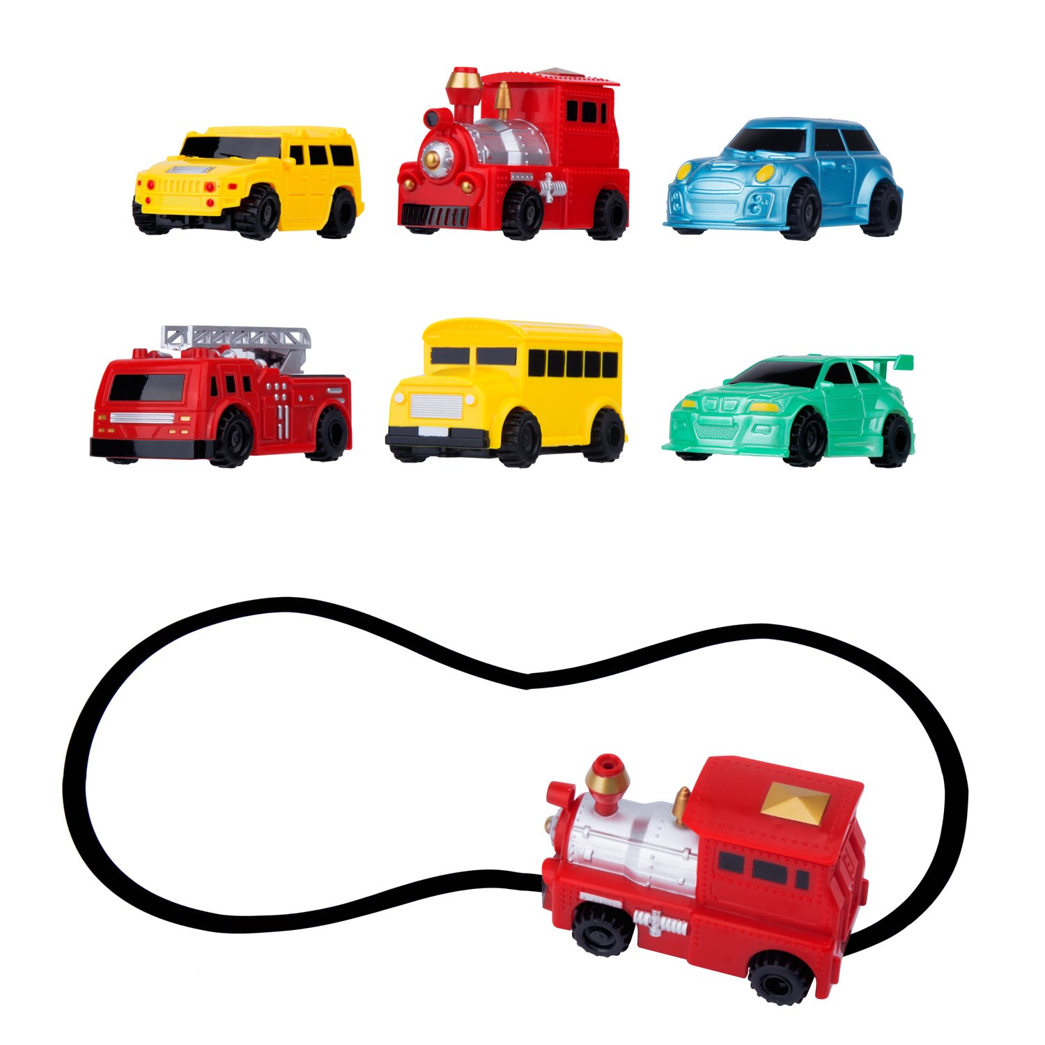 Egoelife Magic Pen Inductive Car Vehicle Toy Following Black Line Induction Rail Track Car for Kids & Children Best Gift(1 PCS, Send at Random)